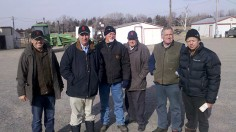 Guy Sargent and a group of New Zealand Angus breeder visit Rishel Angus