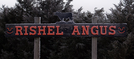 Photo of Rishel Angus Ranch sign